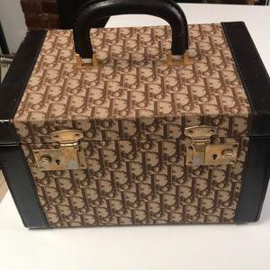 Dior Brown logo vintage 100% authentic train case